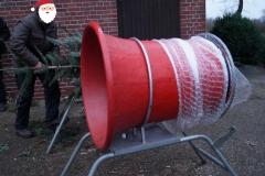 Weihnachtsbaum-Einpackmaschine
