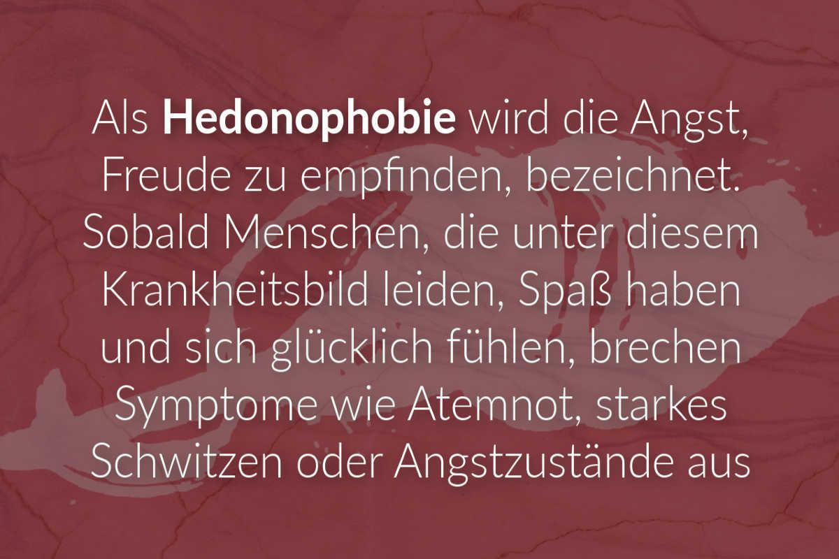 Hedonophobie